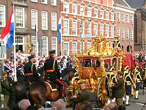 The Golden Carriage on Prinsjesdag in The Hague