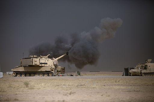 M109A6 Paladin at Qayyarah October 2016