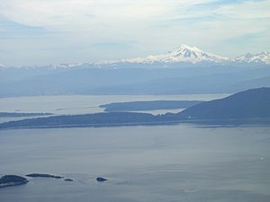 View from Mount Constitution, Orcas Island, Wa...