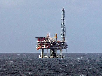 A North Sea Oil rig. North Sea oil production ...