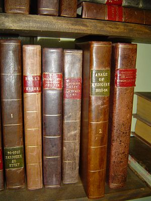 English: Old medicine books of early 19th century