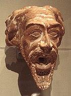 源於公元一世紀或二世紀的安息帝國陶製人面噴水器