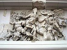 Die Erdgöttin Ge taucht aus dem Untergrund auf, ein im Roman mehrfach interpretiertes Motiv