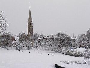 Queen's Park in winter, looking towards Queen'...