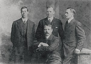 The four surviving officers of the Titanic. Fr...
