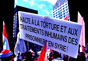 Photo taken during a demonstration in Montreal...