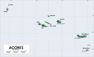 The Azores archipelago (including the islands ...