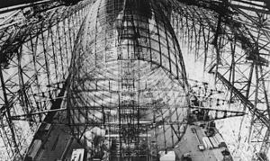 The Hindenburg under construction.