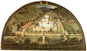 Castello Mediceo di Cafaggiolo, in a view by G...