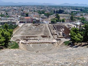 The ancient theatre in Argos