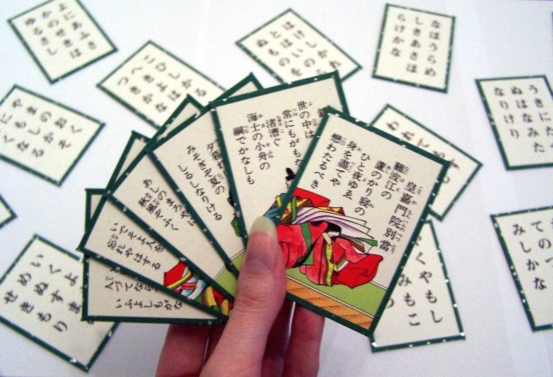 Karuta jogo japonês típico do ano novo no japão, shogatsu