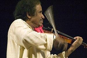 Violin Maestro L. Subramaniam in concert at th...