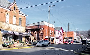 Main Street (West Virginia Route 18) in Middle...
