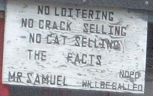 New Orleans: Sign on tire shop on St. Claude A...