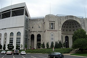 Ohio Stadium of Ohio State University as seen ...