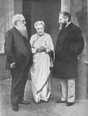 Henry Steel Olcott (1832-1907, links), Annie B...