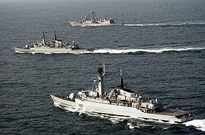 USS Rueben James along with Pakistan Navy Ship...