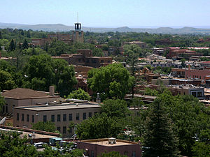 Santa Fe, approximately 60 miles North-Northea...