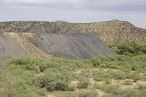 Slag heap in Clarkdale, Arizona