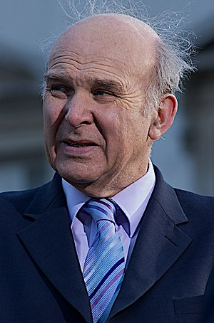 English: Vince Cable, British politician and f...