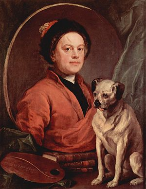 The Painter and his Pug, self portrait