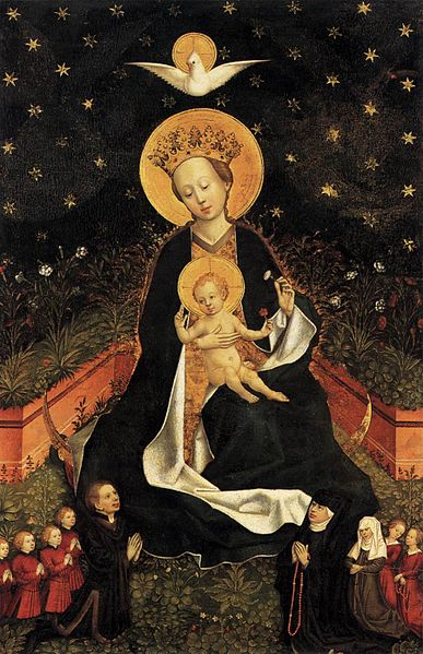 File:15th-century unknown painters - Madonna on a Crescent Moon in Hortus Conclusus - WGA23736.jpg