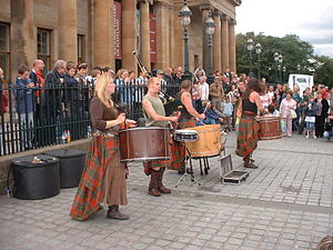 English: Picture of Celtic Battle Music band A...