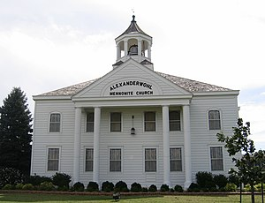 Alexanderwohl Mennonite Church, Goessel, Kansa...