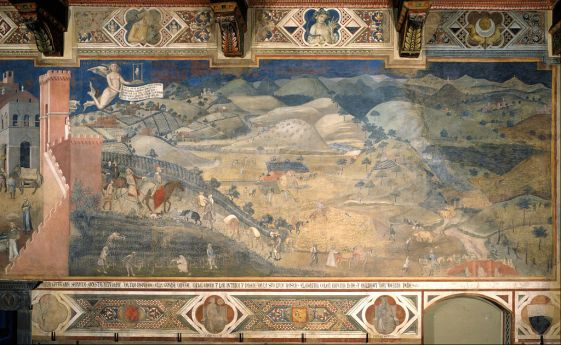 Ambrogio Lorenzetti - Effects of Good Government in the countryside - Google Art Project