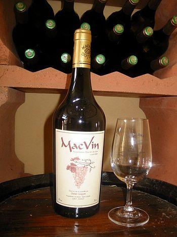 Macvin du Jura, a vin de liqueur/mistelle from...