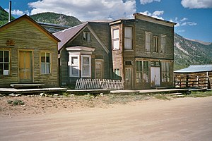 The ghost town of Saint Elmo, Colorado