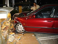 202px Crashed Honda Accord - NY Accident Lawyer Explains Legal Liability in One-Car Accidents