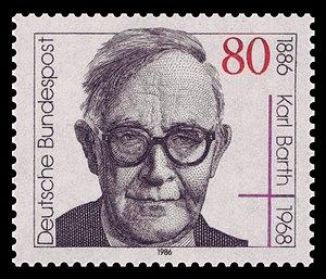 English: 100th day of birth of Karl Barth (188...