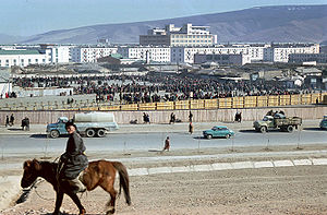 English: Flea market, Ulan Bator, Mongolia, (1...