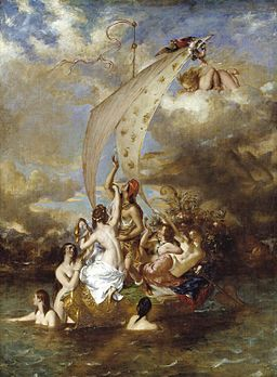 "Youth on the Prow, and Pleasure at the Helm"" by William Etty"