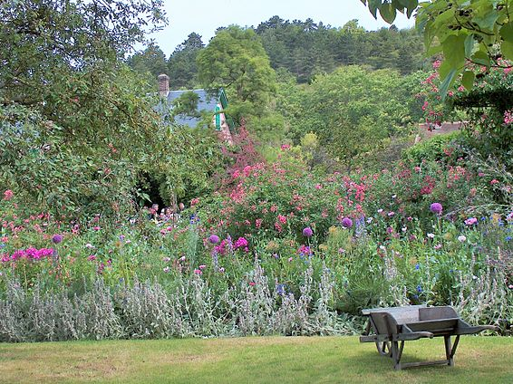 garden of painter claude monet giverny france edit