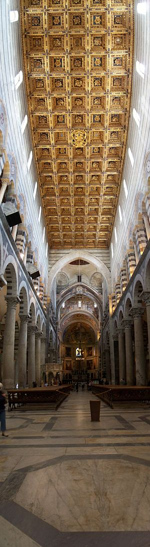 English: Interior view of the duomo of Pisa
