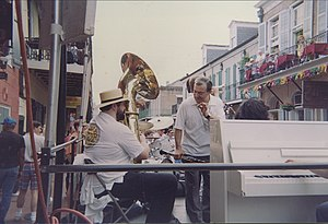 French Quarter, New Orleans. Clarinetist & ban...