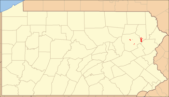 Locator Map of Lackawanna State Forest, Pennsy...