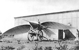 Jean-Marie Le Bris ve uçan makinası Albatros II, 1868.