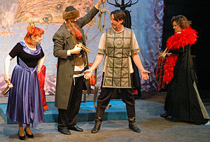 English: Purim spiel performance at The Jewish...
