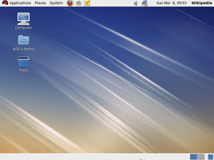 Screenshot of the Redhat Enterprise Linux Desktop