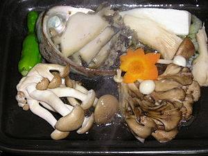 Photo of cooked wild mushrooms at Takanoyu Ons...