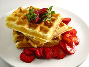 Brussels Waffle (known in the USA as Belgian W...