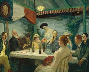 Yeats at Petitpas (1910) by John French Sloan ...
