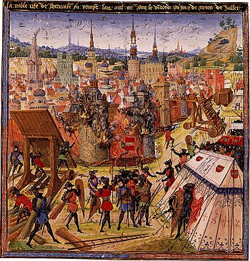 English: Capture of Jerusalem during the First...