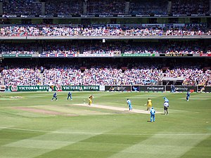 Cricket is a popular team sport played at inte...