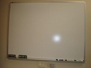 A blank whiteboard