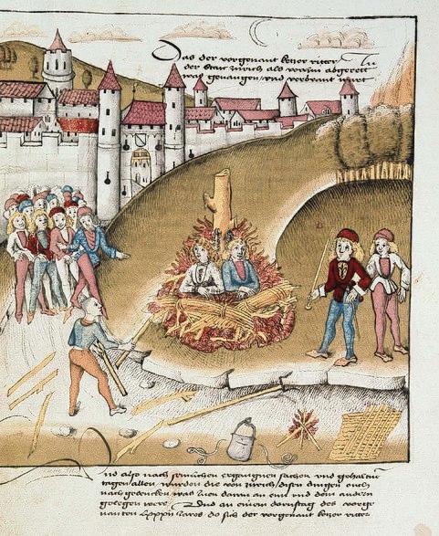Burning  of Sodomites