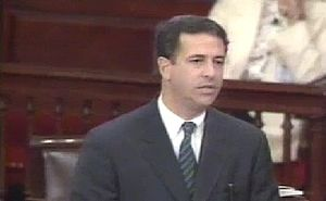 English: U.S. Senator Russ Feingold spoke on t...